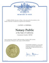Cathy Sowma Notary License